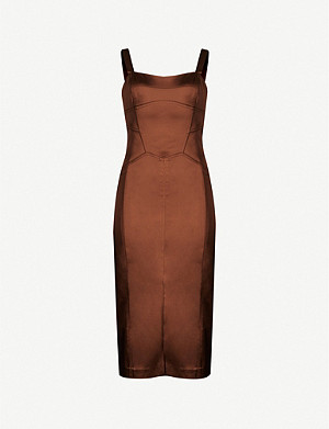 REISS Madeleine satin bodycon dress