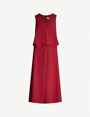 REISS Viola layered crepe midi dress