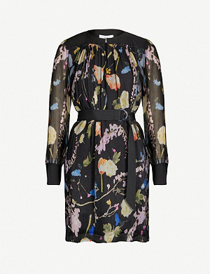 REISS Finn floral printed mini dress