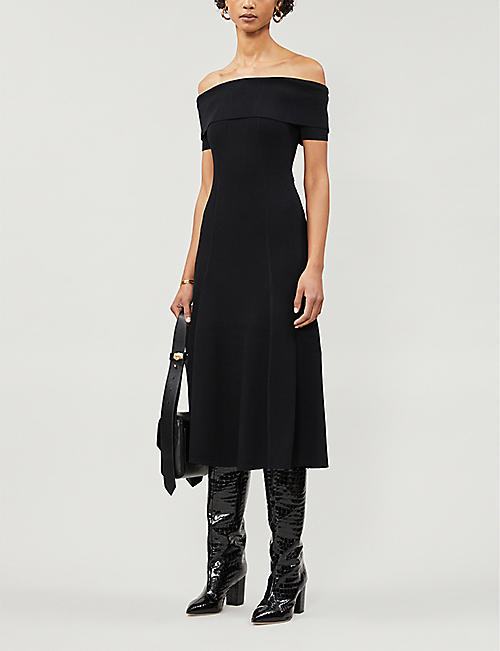 REISS Melissa stretch-knit midi dress