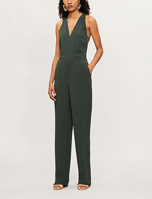 e10a6366e27 REISS Naddia strap-back plunge-front jersey jumpsuit