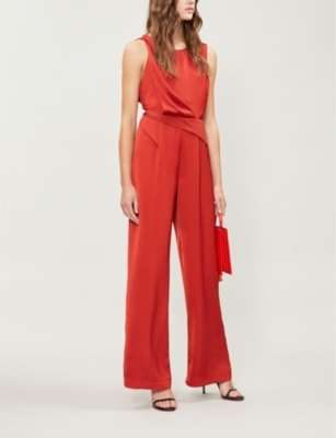 e6f51d00086 REISS - Benita crossover-back satin jumpsuit