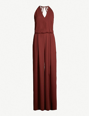 REISS Kadie crepe wide-leg jumpsuit