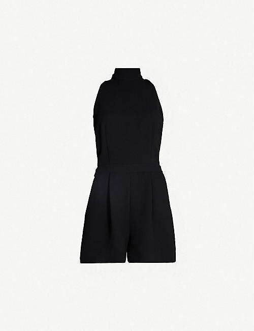 59df433450f REISS Lucille cutout-back ruched crepe playsuit