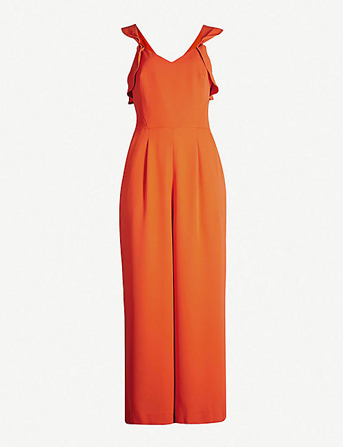 8a34ed962e5 REISS Amika crossover-back crepe jumpsuit