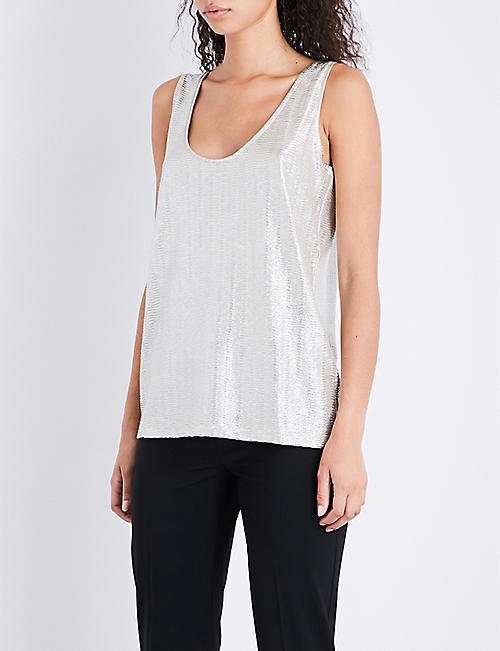 f4a3a6397623f REISS - Gemma metallic top