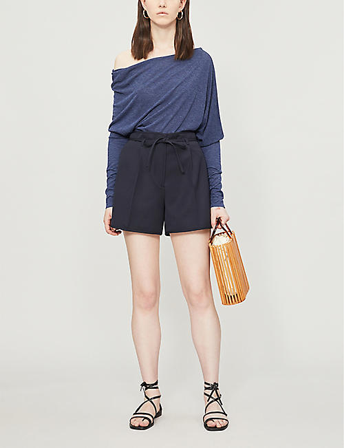 REISS Norah off-the-shoulder stretch-jersey top