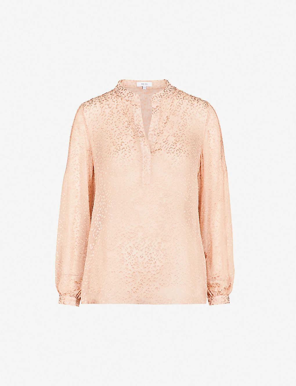 420fab1a6309f5 REISS - Brie devor? silk-blend blouse   Selfridges.com