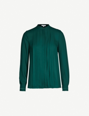 REISS Nicole pleated shirt