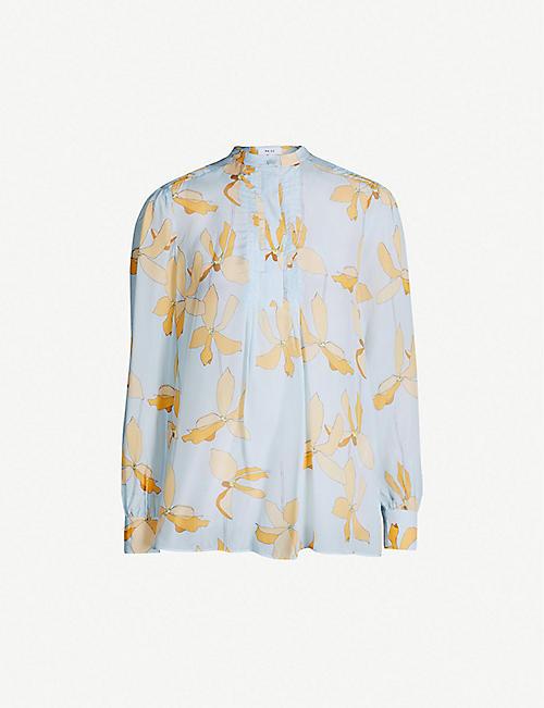 bb91437ccf5e3 REISS Phoenix reef-print satin blouse