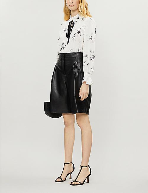 REISS Maeve star-printed crepe blouse
