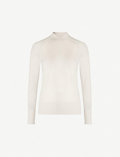REISS Gemma cross-neck wool sweater. Quick view Wish list 489ce1eeb