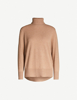 REISS Clio turtleneck cashmere jumper