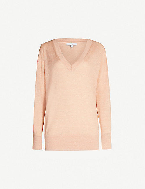 a74f01a5e REISS Vita wool and linen-blend jumper