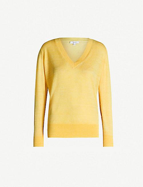 dcc90a0a808 REISS Vita wool and linen-blend jumper