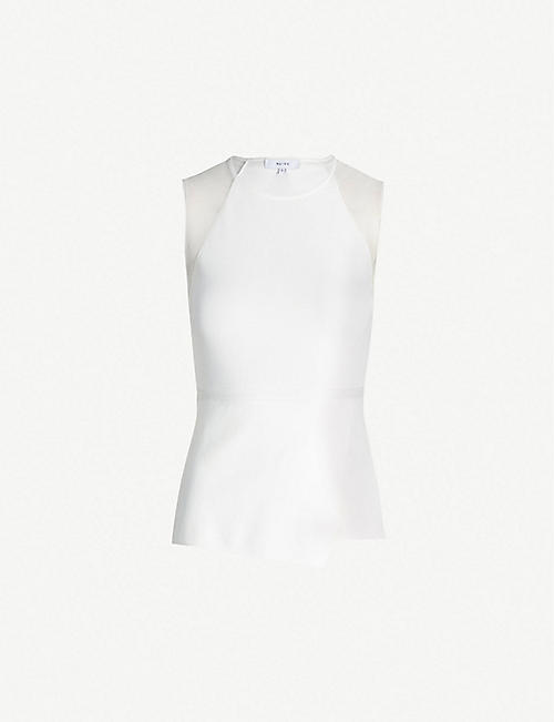 265160bb3aee8 REISS Anabel sheer-panelled knitted top