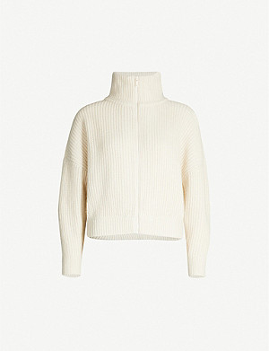 REISS Peyton cable-knit cardigan