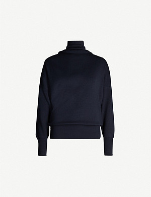 REISS Kym cowl-neck stretch-knit jumper