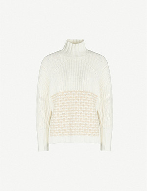 REISS Emma turtleneck ribbed-knit jumper