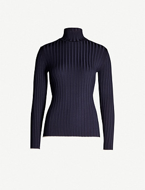 REISS Morgan ribbed turtleneck knitted jumper