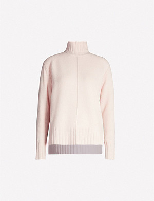 REISS Bonnie wool-and-cashmere blend roll-neck jumper