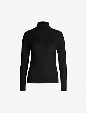 REISS Opal turtleneck wool-blend jumper
