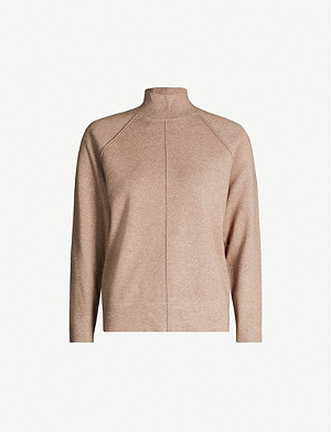 REISS Andrea stretch-knit jumper