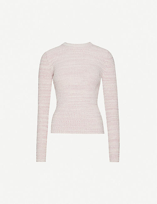 REISS Suri cotton-blend knit jumper