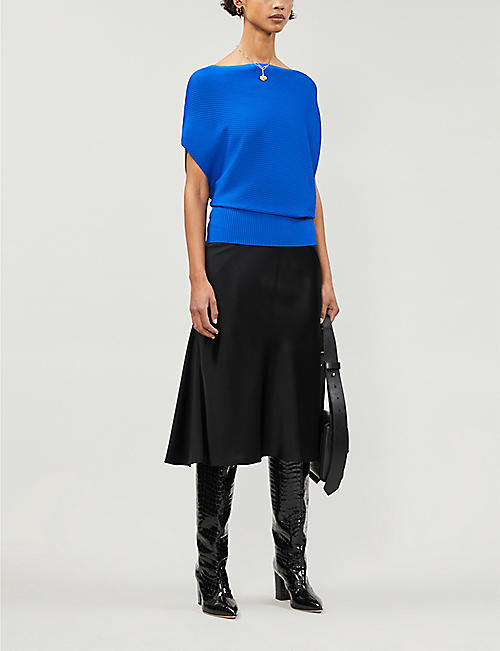 REISS Meryl stretch-knit top