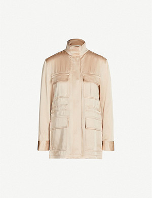 REISS Blakely satin utility jacket