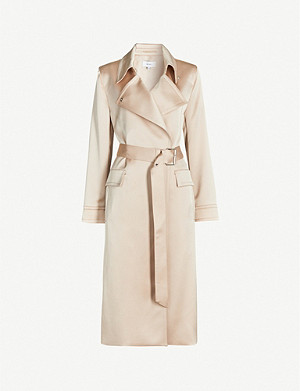 REISS Emmie crepe trench coat
