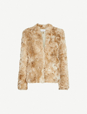 REISS Millie faux-fur jacket