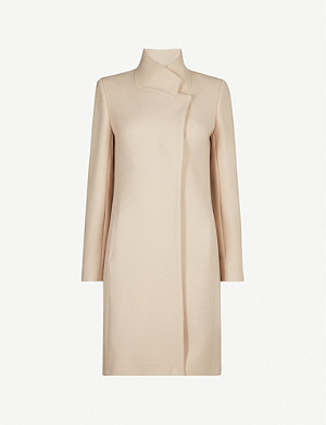 REISS Maya slim-fit wool-blend coat