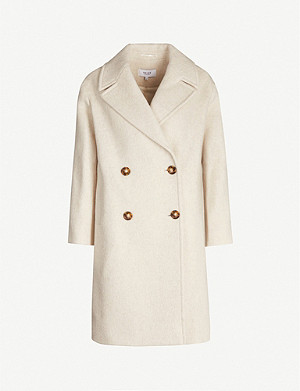 REISS Scarletta double-breasted wool-blend coat