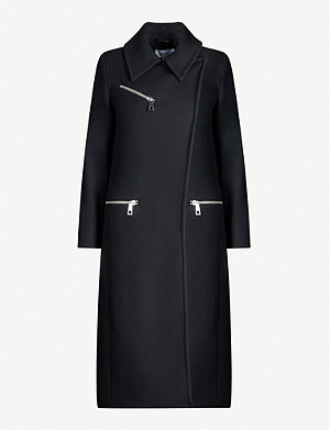 REISS Anders zip-detail wool-blend coat