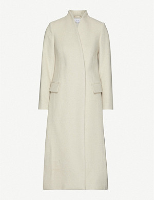 REISS Willow high-neck wool-blend coat