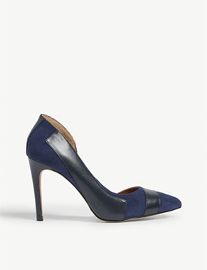 REISS Augusta leather and suede courts