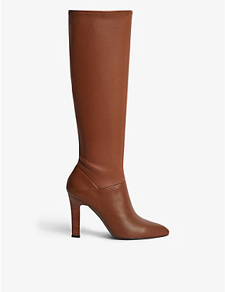 REISS: Cresida knee-high leather boots