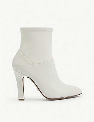 REISS: Carrie heeled leather ankle boots