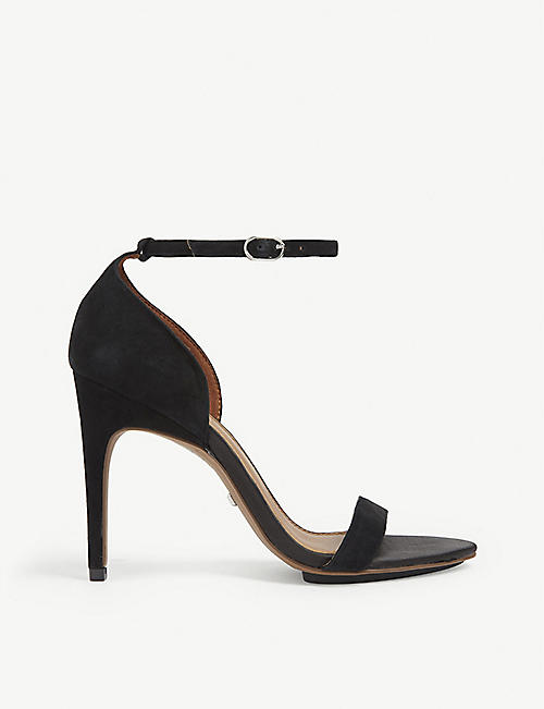 REISS Paula simple strap suede sandal