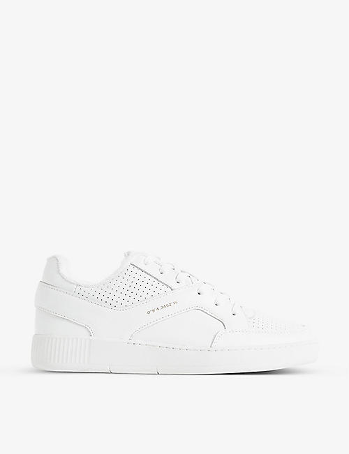 REISS: Grendon low-top leather trainers