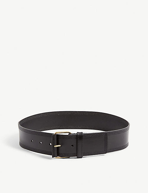 REISS: Lou stitched leather belt