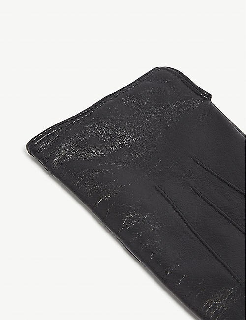REISS Christa leather gloves