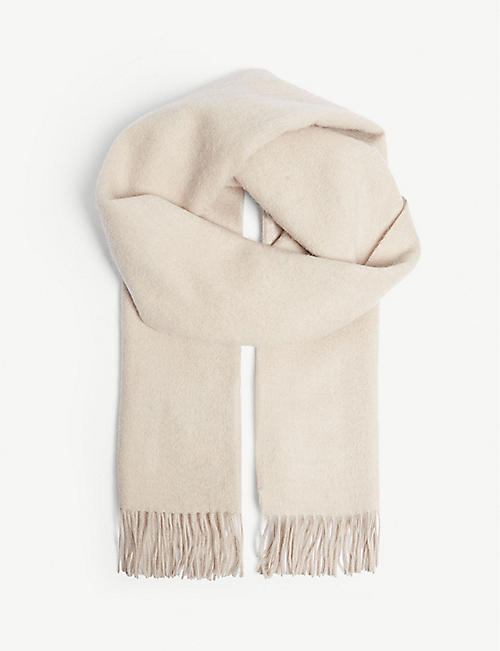 REISS Saskia lambswool and cashmere-blend scarf 1085d5a2f1