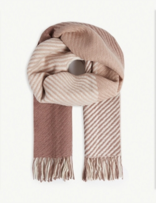 REISS Bailey check wool scarf