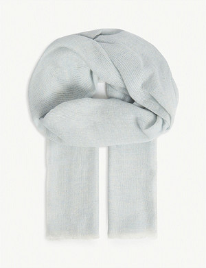 REISS Marcia wool and cashmere blend scarf