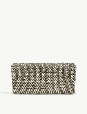REISS Zoey embellished clutch