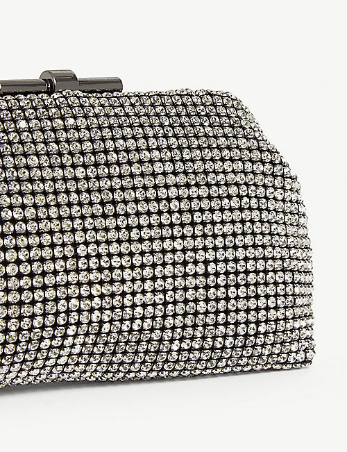 REISS Adaline crystal-embellished clutch