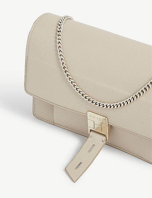 REISS Aubrey leather cross-body bag