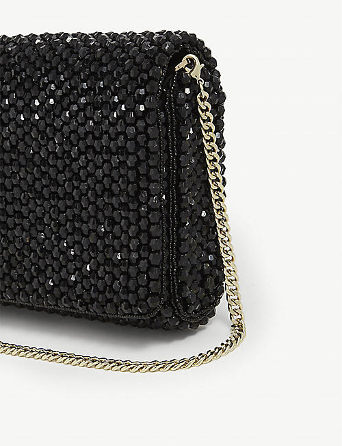 REISS Zoey embellished clutch bag